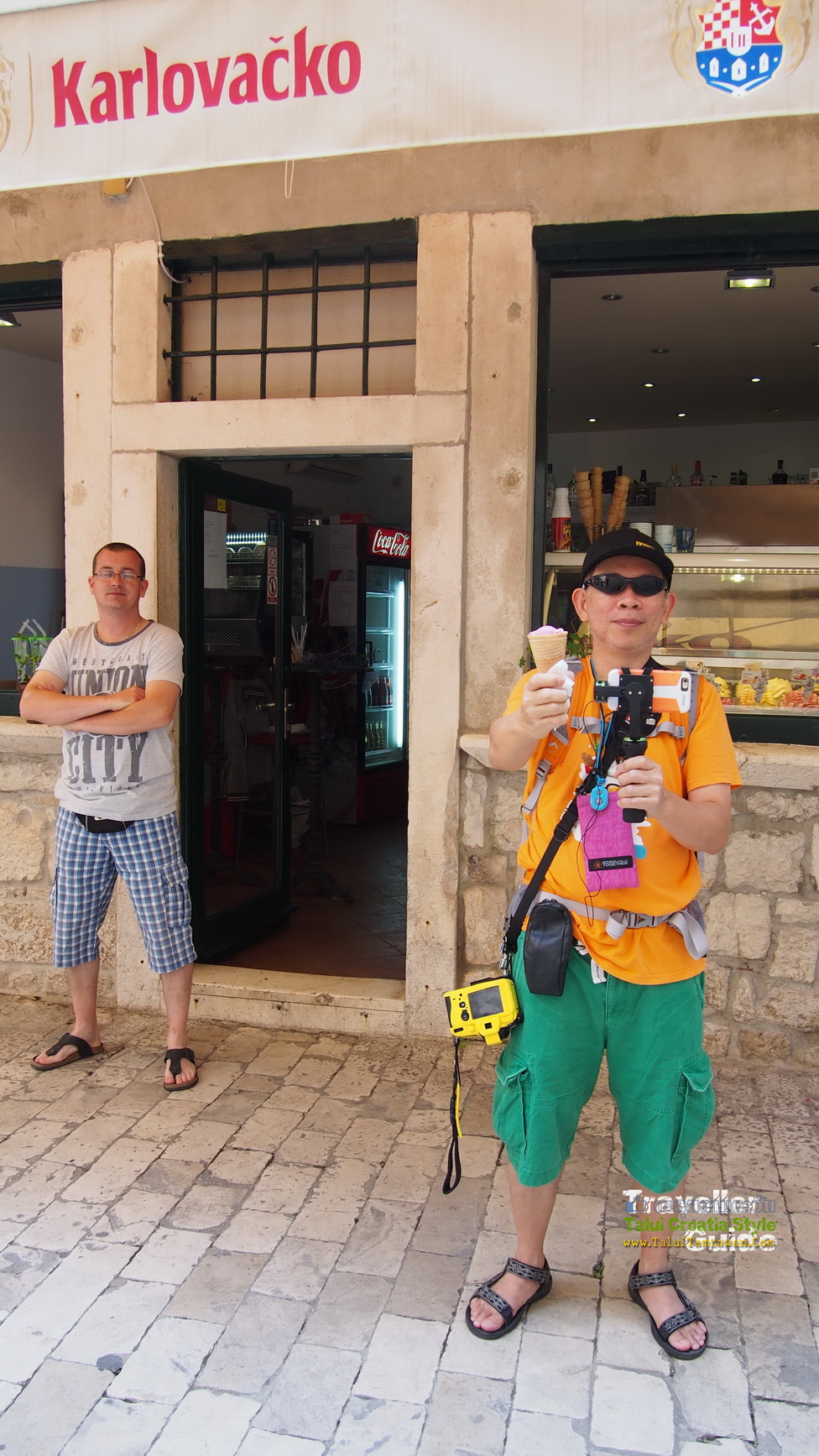 eat ice cream @ Trogir