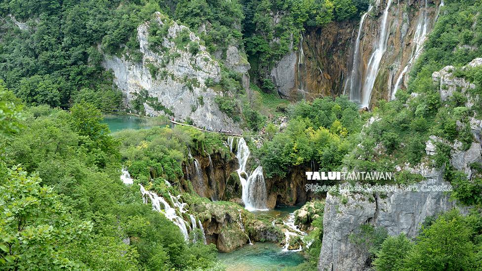 มุมมหาชน อีกมุมหนึ่งครับ ใน Plitvice Lakes National Park, Croatia.
