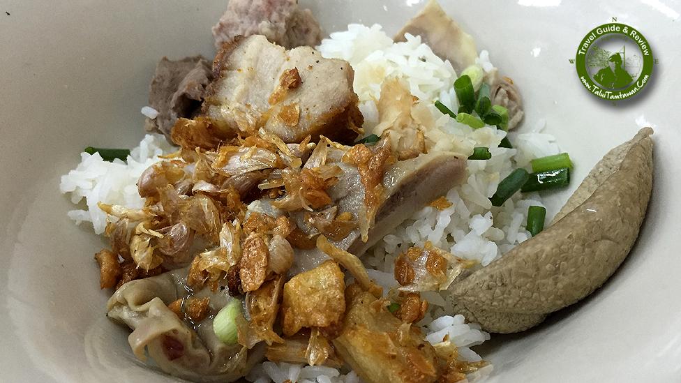Khao Tom Haeng (Dry Rice Porridge) ข้าวต้มแห้ง ใส่ทุกอย่าง