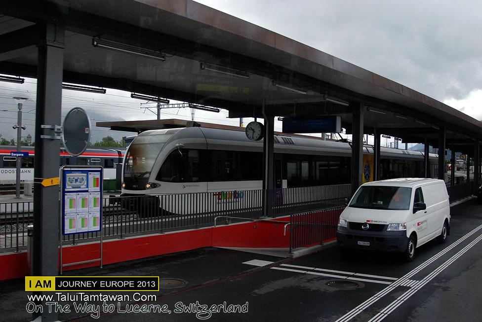 เข้า Swizz แล้วมาต่อรถไฟ First Class ของ Swizz ที่ เมือง Sargans