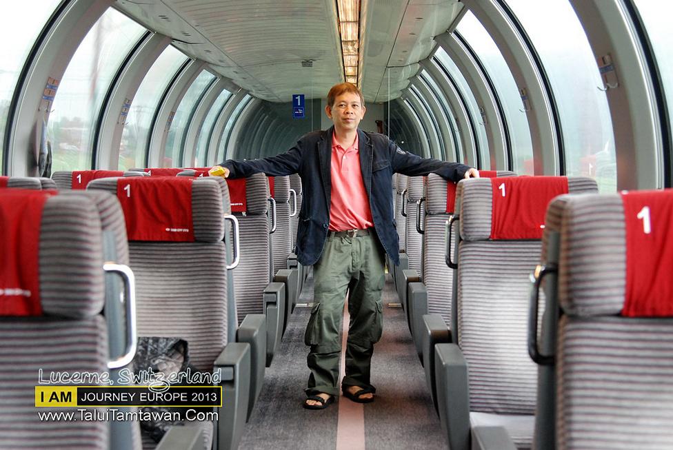 First Class ของ Swizz ที่ เมือง Sargans นั่งเข้า Zurick เพื่อต่อ อีกขบวน ไป Luzern