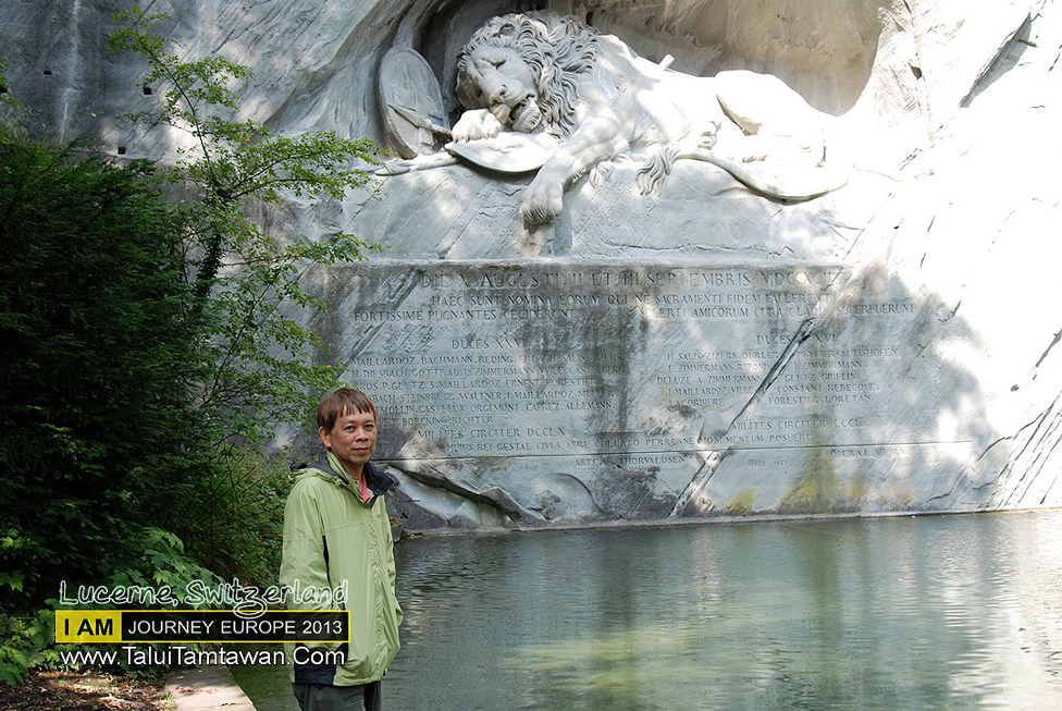 Lion Monument : The dying Lion of Lucerne is one of the world's most famous monuments.