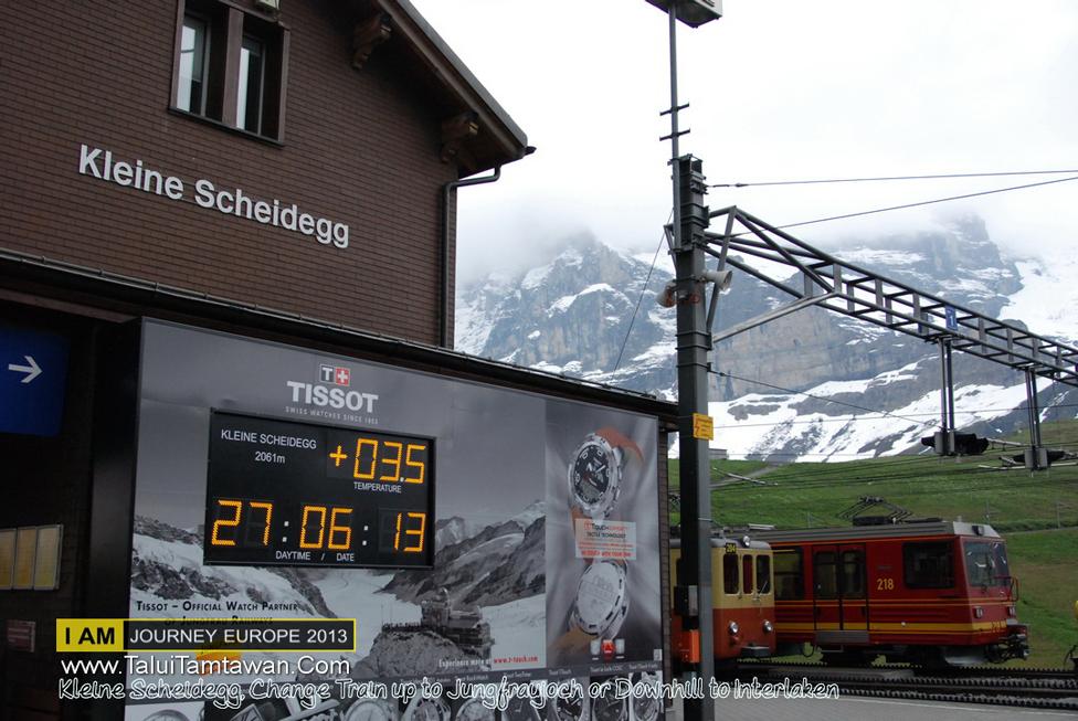 Lunch at Grindelwald and Train Up Hill to Kleine Scheidegg