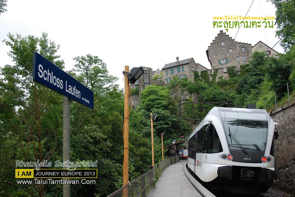 Rhine Falls, Rheinfall : นั่งรถไฟจากสนามบิน มาเที่ยวน้ำตก