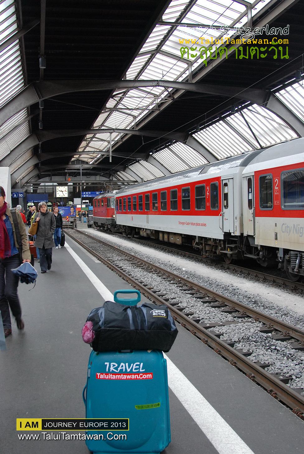 Good morning Zurich, walk to Rail City Zurich and go to Zurich Airport by train.