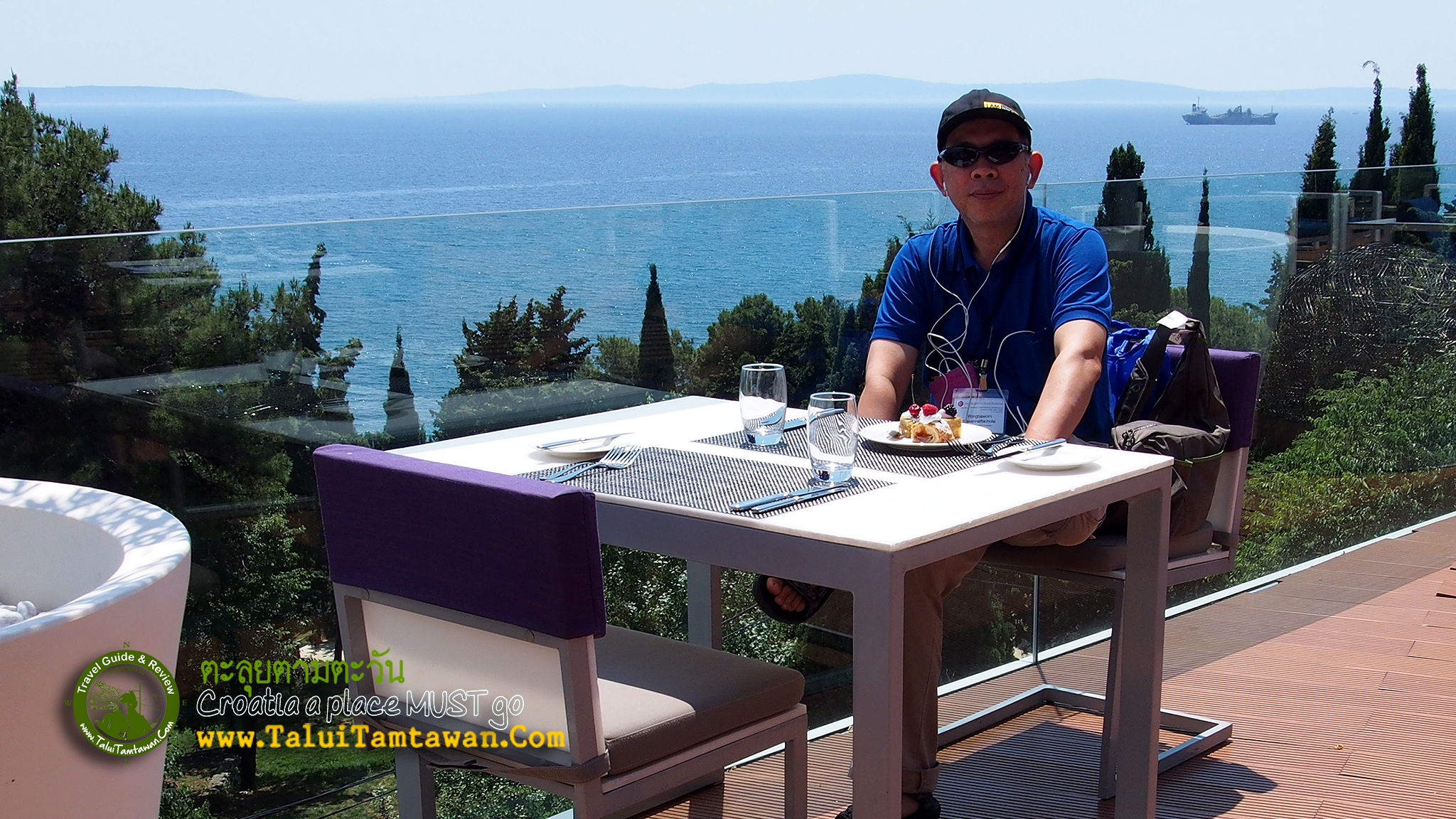 Lunch at Radisson Blu Resort Split, Croatia.
