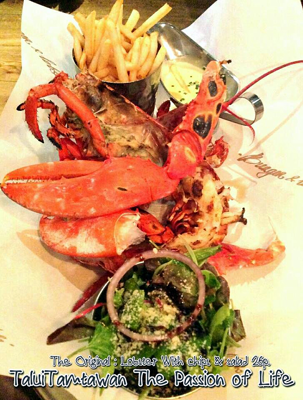 THE ORIGINAL LOBSTER With chips & salad , avg. 700 grams £26